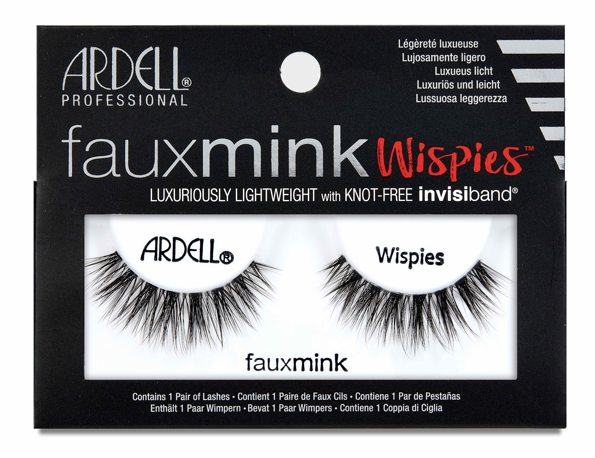 Faux Mink Whispies False Lashes Black