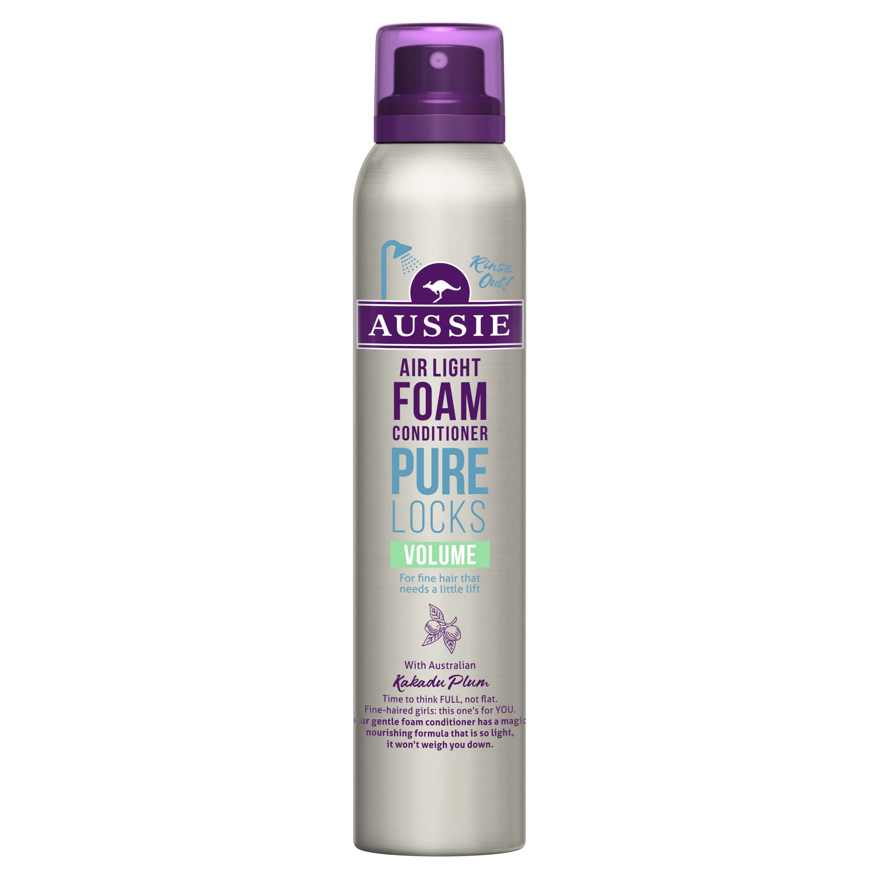 Pure Locks Volume Foam Conditioner, Platt Hår, Vik Hädan 180 ml