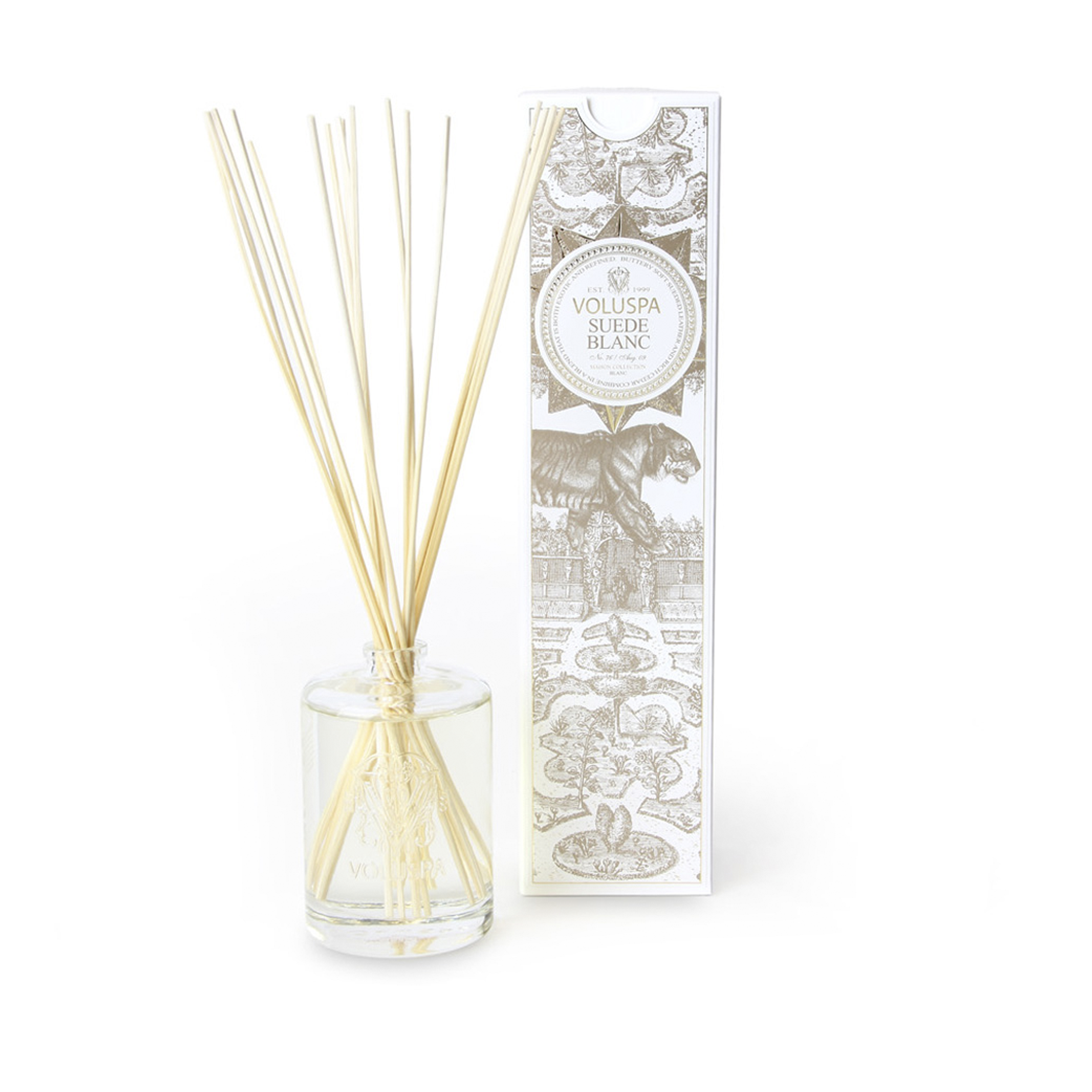 Suede Blanc Oil Embossed Diffuser