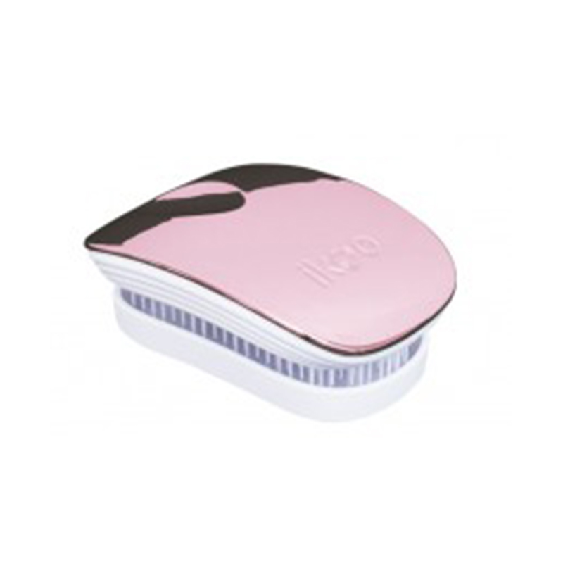 Pocket - White - Rose Metallic Hair Brush