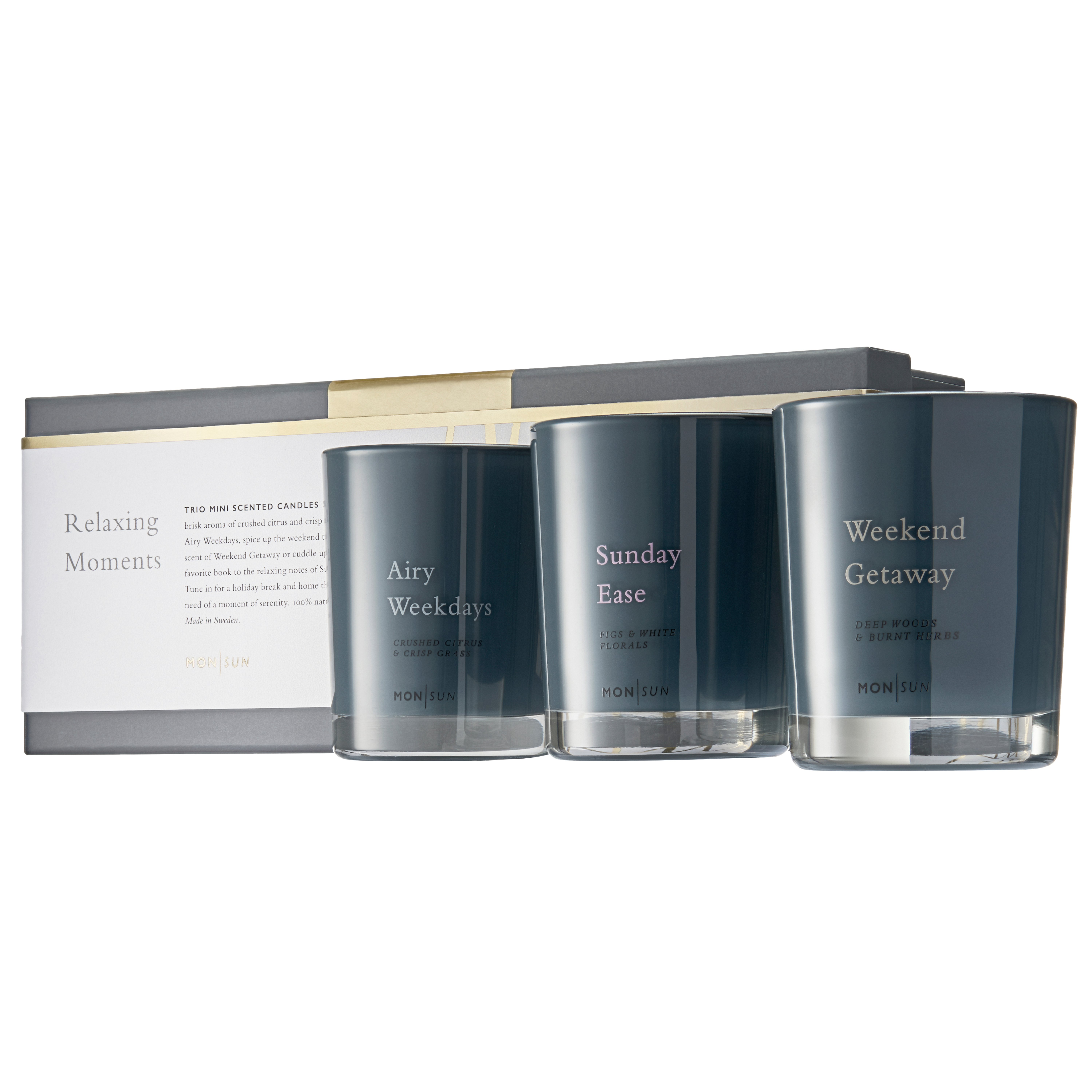 Relaxing Moments Trio Scented Candles Giftbox