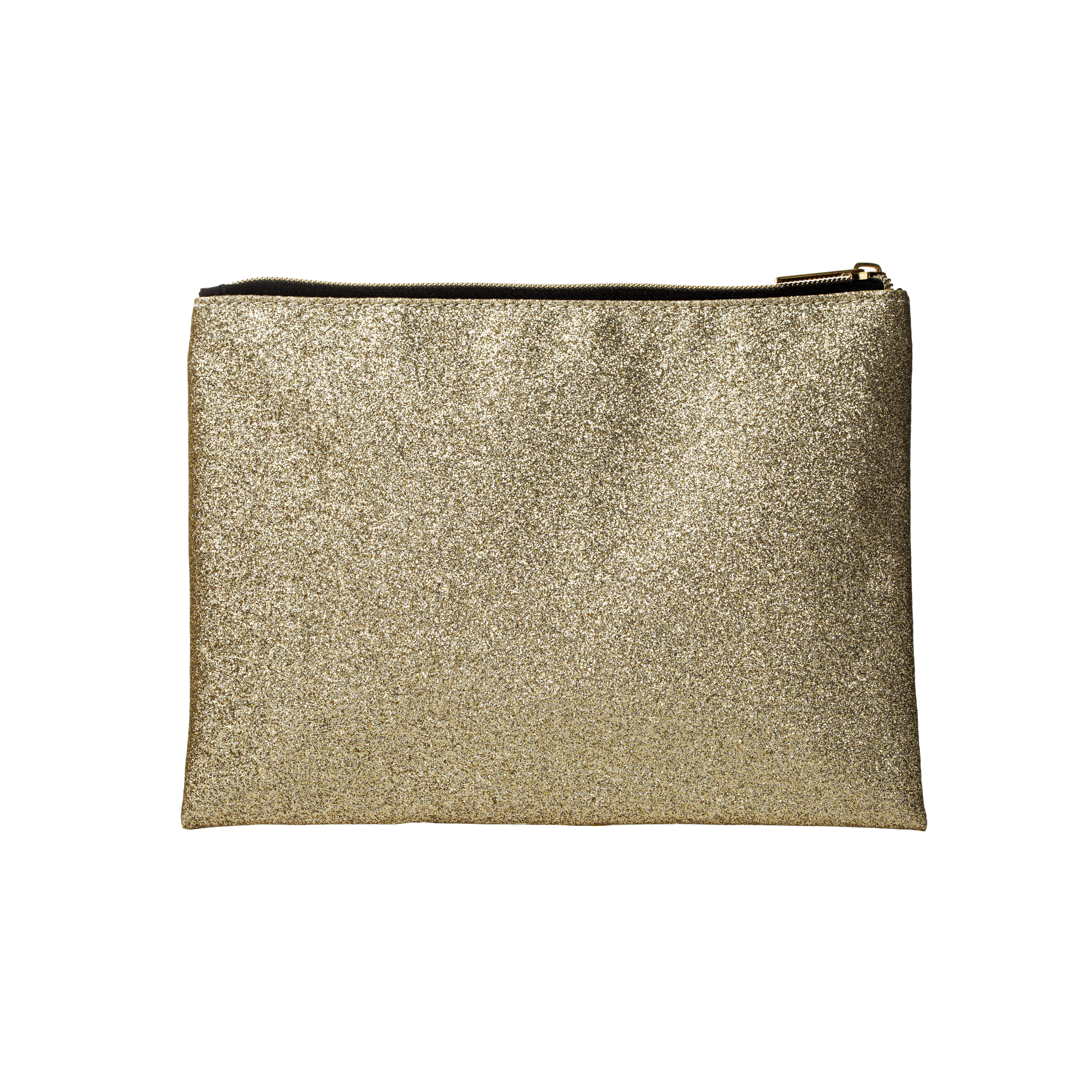 Makeup Bag Gold Glitter